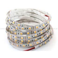 TAŚMA LED-5050 IP20 300LEDS 5m/10mm/12V/72W BIAŁE PODŁOŻE BEZ SILIKONU