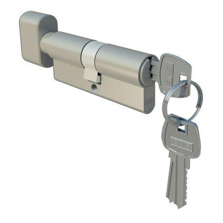 Wkładka drzwiowa z gałką 30/40 nikiel