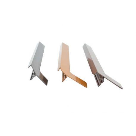 Zewnętrzne zakończenia aluminiowe do parapetów stalowych i aluminiowych