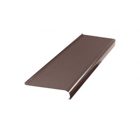 Parapet zewnętrzny stalowy softline - RAL 8017 (Brąz)