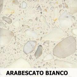 Parapet wewnętrzny z Aglomarmur ARABESCATO BIANCO