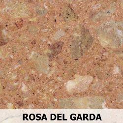 Parapet wewnętrzny z Aglomarmur ROSA DEL GARDA
