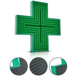 Krzyż apteczny jednostronny - LED 80/80 - Zielony