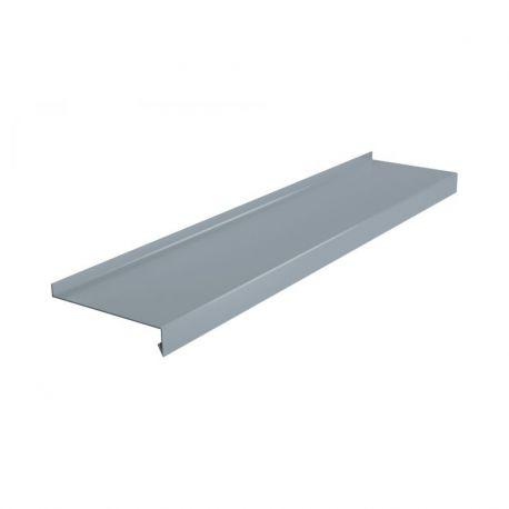 Parapet zewnętrzny stalowy standard - RAL 9006 (Srebrny) do 4m