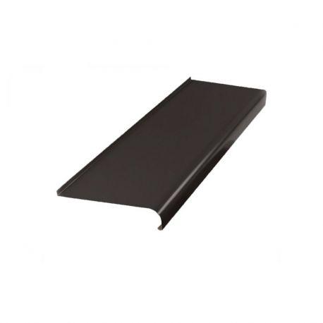 Parapet zewnętrzny stalowy softline - RAL 8019 (Ciemny Brąz) 4m