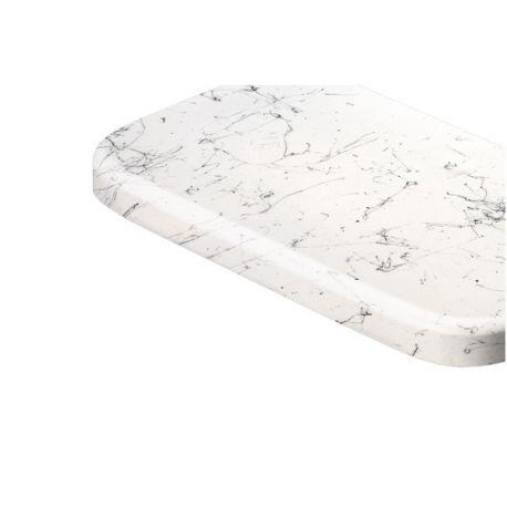 Parapet wewętrzny MDF lakierowany - Marmurek biały powyżej 248cm